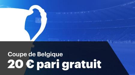Pariez sur la Coupe de Belgique et gagnez un pari gratuit de 20 €