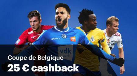 Coupe de Belgique: Cashback de 50% si votre favori échoue en demi-finale