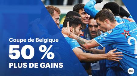 50% de gains en plus sur la Coupe de Belgique avec Napoleon Games