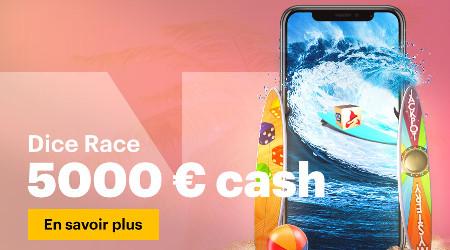 5.000 € avec The 5K Dice Race du casino Napoleon Games