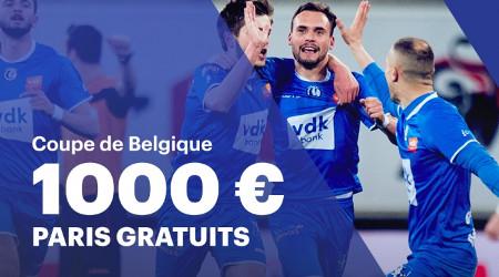 1.000 euros de jackpot pour la finale de la Coupe de Belgique
