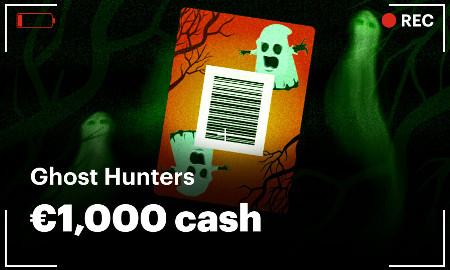 Récoltez des Ghost Cards et gagnez votre part des 1.000 euros