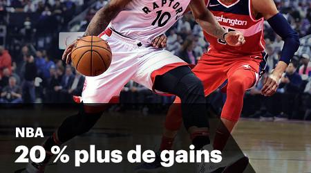 20 % de plus sur vos paris NBA avec le bookmaker Napoleon Games