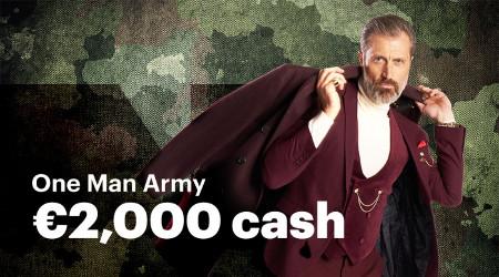Gagnez jusqu'à 2.000 euros avec le défi Blackjack One Man Army