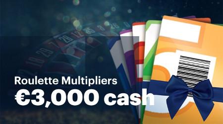 3.000 € à se partager avec les Roulette Multipliers
