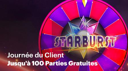 100 parties gratuites sur Starburst offertes par Napoleon Games