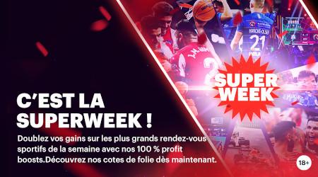 Superweek: 100 % de gains en plus sur vos paris  avec le bookmaker Napoleon