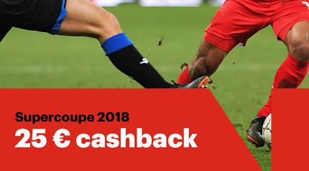 Supercoupe de Belgique: Cashback de 25 € si nul