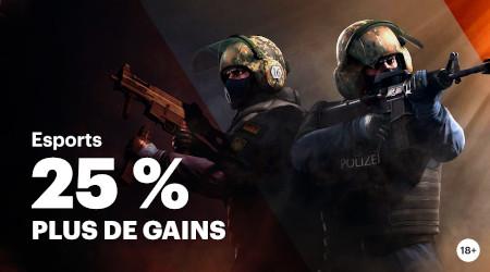 e-Sport avec Napoleon Games : 25% de gains en plus