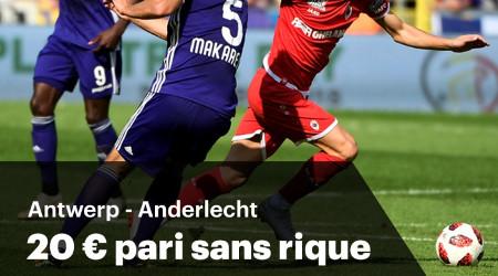 Antwerp x Anderlecht: 20 € de pari sans risque sur un buteur avec Napoleon