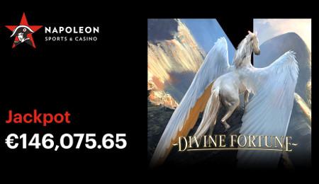 Un jackpot de 146.075.65 euros est tombé sur Napoleon Sports & Casino