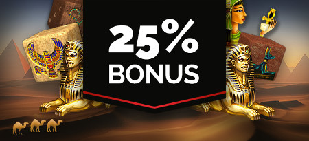 25 % de bonus sur Dice of Ra