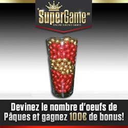 Devinez le nombre d'œufs et gagnez 100 euros de bonus grâce à SuperGame.be