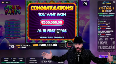 Twitch : Un Streamer décroche un gain record de 500.000 € en live