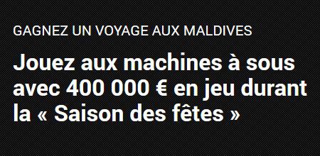 400.000 euros à se partager pour la saison des fêtes et un voyage aux Maldives