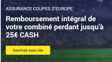 25 € de cashback sur la Ligue des Champions et la Ligue Europa avec Unibet