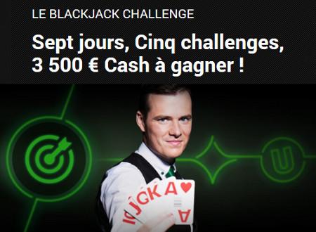 3.500 euros à gagner avec le Blackjack Challenge d'Unibet