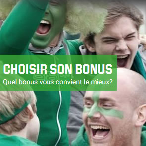 Quel bonus de bienvenue Unibet.be choisir : Casino, Poker ou Paris Sportif