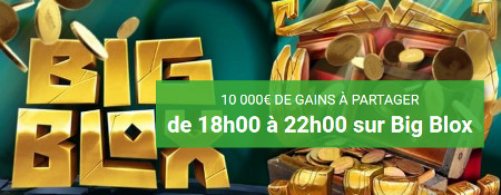 Cash drop : 10.000 € sur la machine à sous Big blox d'Unibet Casino