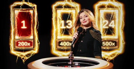 Lighting Roulette d'Unibet Casino