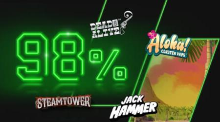 98% de taux de redistribution au Super casinod'Unibet (4 nouveaux jeux)
