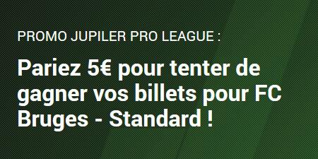 Gagnez deux tickets pour FC Bruges x Standard avec Unibet