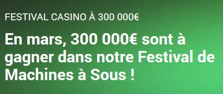 300.000 euros à se partager avec le Festival de Machines à sous Unibet