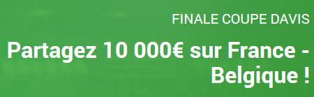 10.000 euros à se partager pour la finale de la Coupe Davis