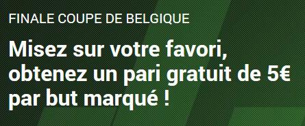 Coupe de Belgique: Gagnez un pari gratuit de 5 € pour chaque but