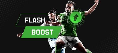 Flash Boost: 10 cotes boostées flash chaque  semaine sur le foot avec Unibet