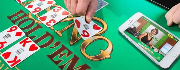 Live casino Hold'em d'Unibet sur Mobile