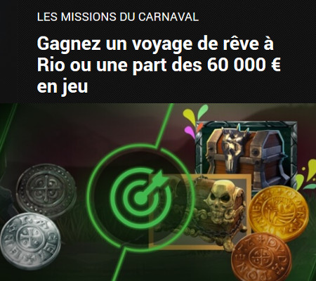 60.000 € en cash à gagner et un voyage à Rio de Janeiro avec les Missions du Carnaval