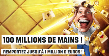 100 millions de mains sur Unibet Poker et 1 million de gains