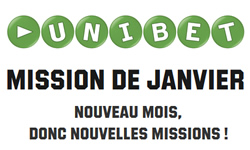 Les missions de janvier commence sur Unibet Poker