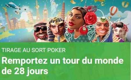Tour du Monde de 28 jours à gagner sur Unibet Poker
