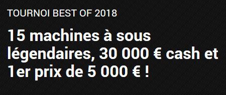 30.000 euros à se partager avec le tournoi Best of2018