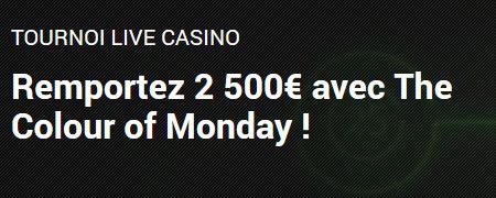The Colour of Monday: 10.000 euros à se partager