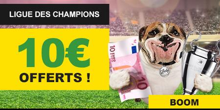 Ligue des Champions: Gagnez un pari gratuit 10 € sur BetFirst