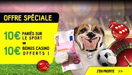 Pariez 10 € sur le sport et gagnez un bonus de 10 € au casino