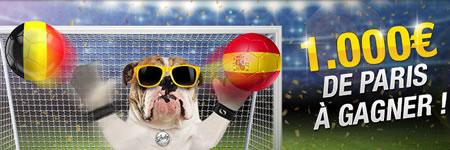 Score exact Belgique x Espagne et décrochez 1.000€ de paris gratuits