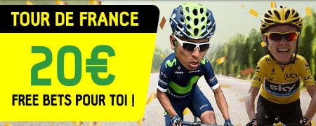 Tour de France: Gagnez jusqu'à 20 euros de paris gratuits