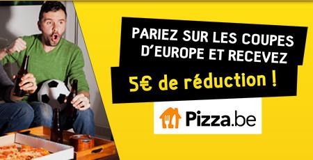 5 euros de réduction sur Pizza.be en pariant sur BetFirst