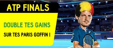 ATP Finals: Soutenez Goffin et doublez vos gains