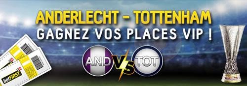 betFirst offre des places VIP pour Anderlecht x Tottenham
