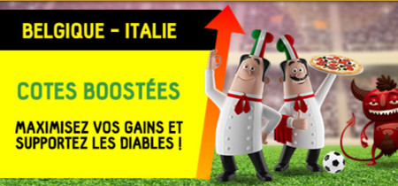 Belgique x Italie: cotes boostées sur betfirst.be