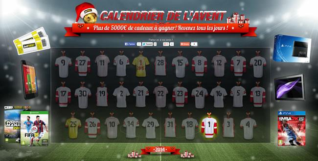 Calendrier De Lavent Football.5000 De Cadeaux A Gagner Avec Le Calendrier De L Avent De