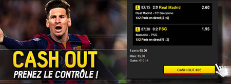 L'option Cash Out est disponible sur betFirst.be