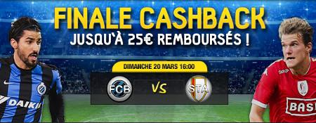 Finale Coupe de Belgique: jusqu'à 25 euros remboursés