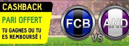 FC Bruges x Anderlecht: Cashback sur votre premier pari en direct sur mobile