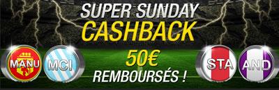 50 � rembours�s sur vos paris du Super Sunday